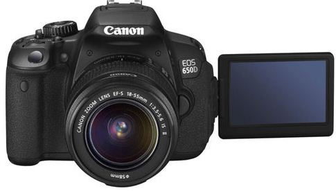Update! Canon EOS 650D für 506,95€   18MP DSLR + EF S 18 55 IS II Objektiv