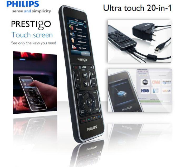 [iBOOD] Universal Fernbedienung: Philips mit touch 7,1 cm Farbdisplay, inkl. Versand nur 75,90€