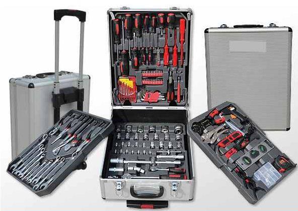 JAGO Werkzeugkoffer mit 251 Teilen mit Trolley für 74,90€