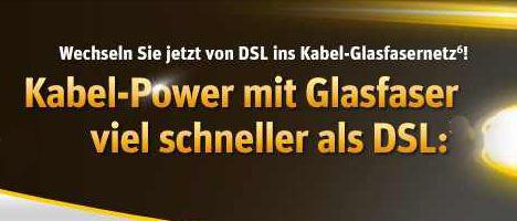 [Kabel Deutschland] Update! DSL Vertrag: 100Mbit / 32 Mbit, dank 100€ Cashback & 50€ Online Bonus super günstig!