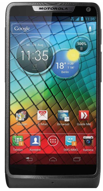 [Sparhandy] Top! Motorola RAZR i: Mit Base Vertrag für nur 22€ + 11€ monatl.!