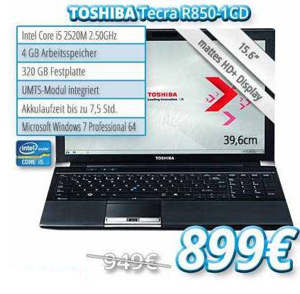 [notebook.de] 13,3″ Notebook: Toshiba Ultrabook Portege Z830 (i5, 1.70GHz) inkl. Versand 899€ (Vergleich 999€)