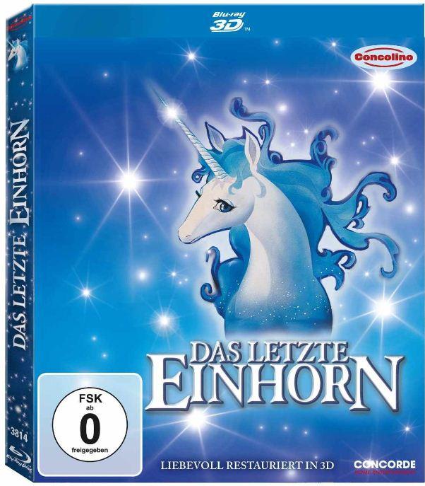 [Amazon] 3D Blu ray: Das letzte Einhorn (inkl. 2D Version + 3D Wackelbild magnetisch) inkl. Versand 12,97€