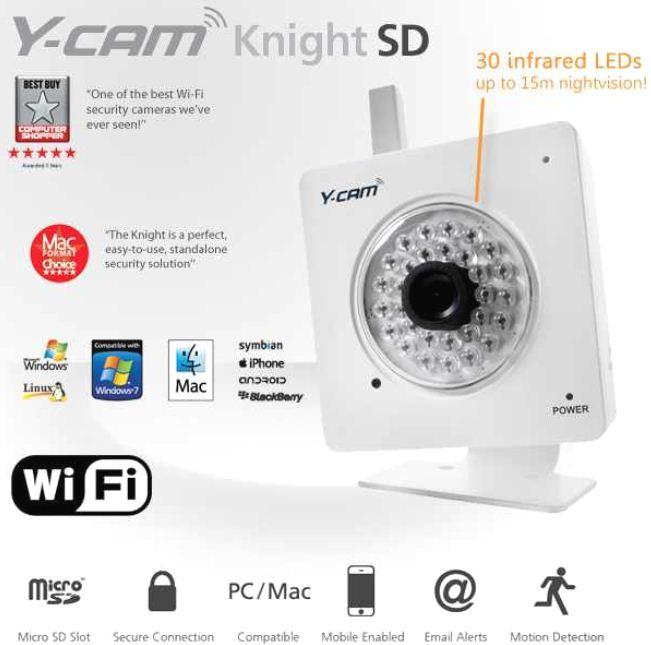 [iBOOD] IP Videokamera: Y Cam Knight SD Wireless mit Nachtsichtfunktion inkl. Versand 145,90€