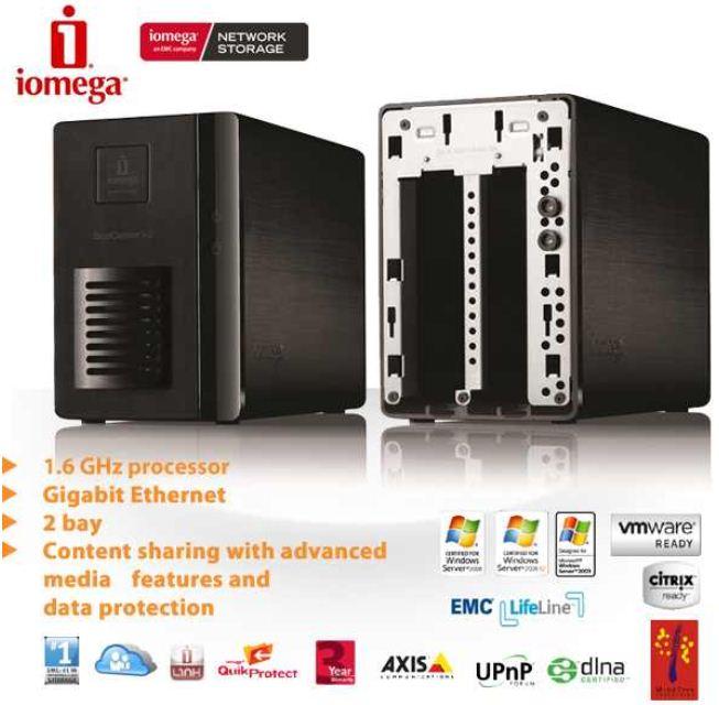 [iBOOD] NAS Server: Iomega StorCenter ix2, Dual Bay, Personal Cloud und Gigabit Verbindung inkl. Versand 105,90€