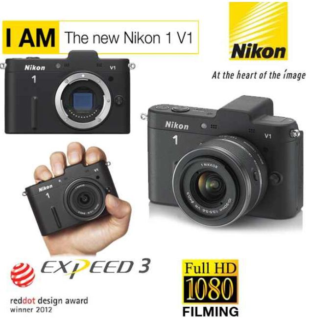 [iBOOD] 10MP Systemkamera: Nikon 1 V1 Set mit 10 30 Objektiv inkl. Versand 255,90€ (Vergleich 307€)