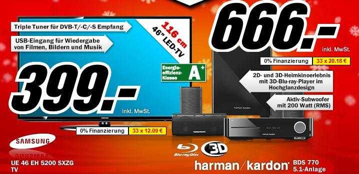 Update: 46″er TV Samsung UE 46 EH 5200 für 399€