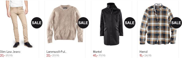 [H&M] Neue SALE Aktion mit bis zu 50% Rabatt! Gutscheine: 25% Rabatt oder 5€!