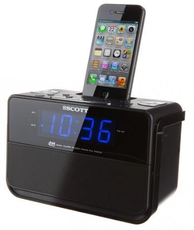 [ebay Wow] Radiowecker: Scott i CSX 15 in schwarz für alle iPhone, iPod inkl. Versand 22,22€
