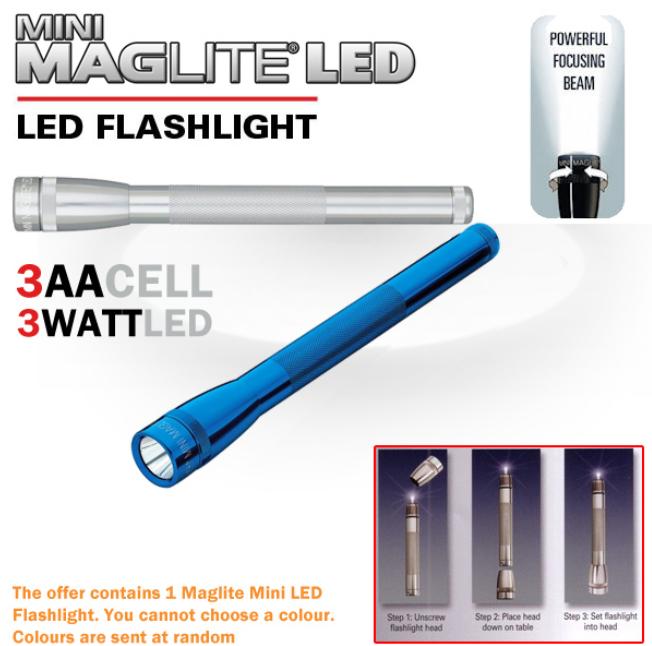 [iBOOD] LED Taschenlampe: Mini MAGlite 3AA, inkl. Versand 20,90€