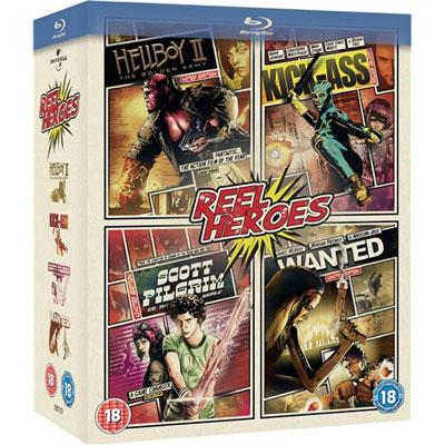 [play.com] Superhelden Blu ray Box für 19,29€ inkl. Versand   Hellboy 2, Kick Ass, Scott Pilgrim und Wanted