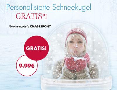 [Nur noch heute!] personalisierte Schneekugel für 0€ + 4,95€ Versand statt 14,94€
