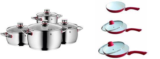 Nachschub für die Küche! WMF Topfset für 125€ und Keramik Pfannen Set für 34,15€ inkl. Versand