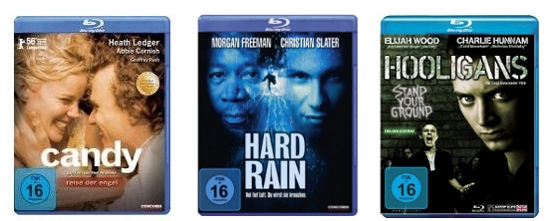 [Amazon] Blu ray Angebote für 6,97€   z. B. Hooligans, Hard Rain, Candy
