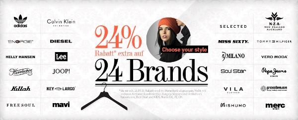 [dress for less] 24% Rabatt auf 24 Marken und 10€ Newsletter Gutschein
