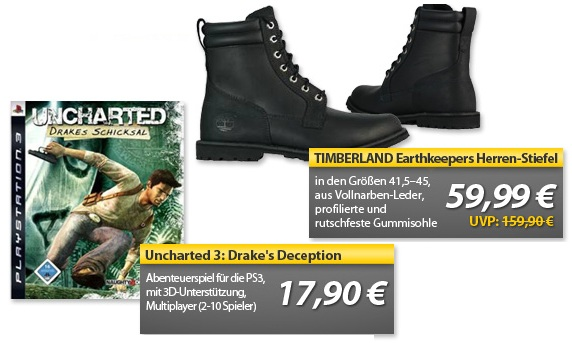 OHA Deals! (Uncharted 3 PS3 &TIMBERLAND Earthkeepers)