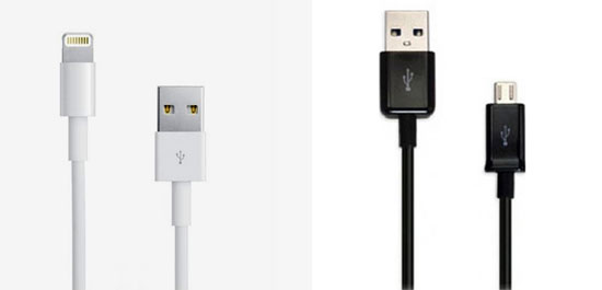 iPhone 5 und Samsung Galaxy Ladekabel zum günstigen Preis