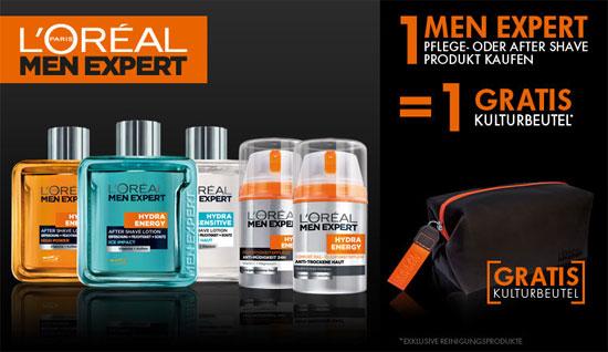 [Amazon] gratis Kulturbeutel beim Kauf eines LOreal Men Expert Pflegeprodukt