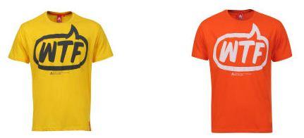 [THEHUT] T Shirts: WTF in verschiedenen Farben inkl. Versand ab 9,89€