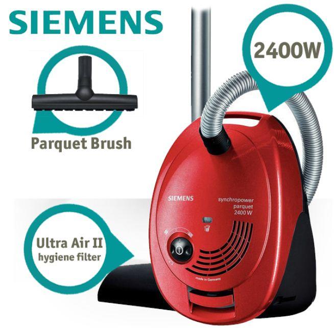 [iBOOD] Staubsauger: Siemens 2400 Watt (10m Reichweite, Parkettbürste) inkl. Versand 88,90€