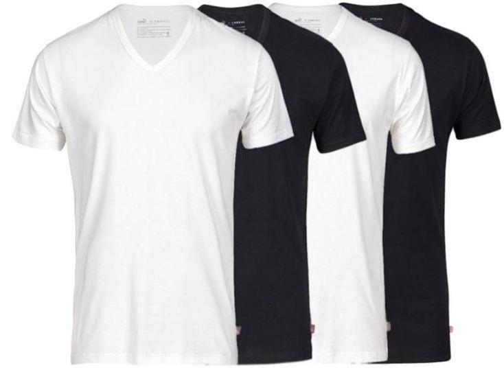 [ebay Wow] PUMA: 4er Pack T Shirts (V  o. R Neck, Gr. S bis XL) inkl. Versand 27,90€
