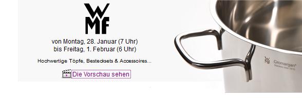 [Vente privee] TIPP! WMF Sale: Ab 07:00Uhr Rabatte auf Töpfe, Bestecke und Accesoires!