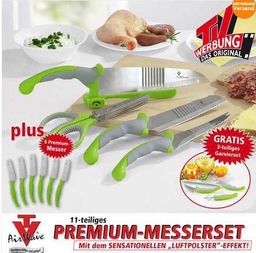[ebay Wow] 11tlg. Messerset: ProV Air Wave mit Kräuterschere aus der TV Werbung! inkl. Versand 15,99€