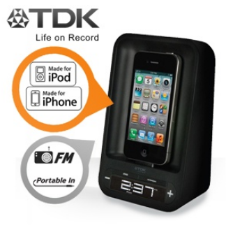 [iBOOD] TDK Wecker TAC 4221 mini Dockingstation für iPhone und iPod, inkl. Versand 25,90€