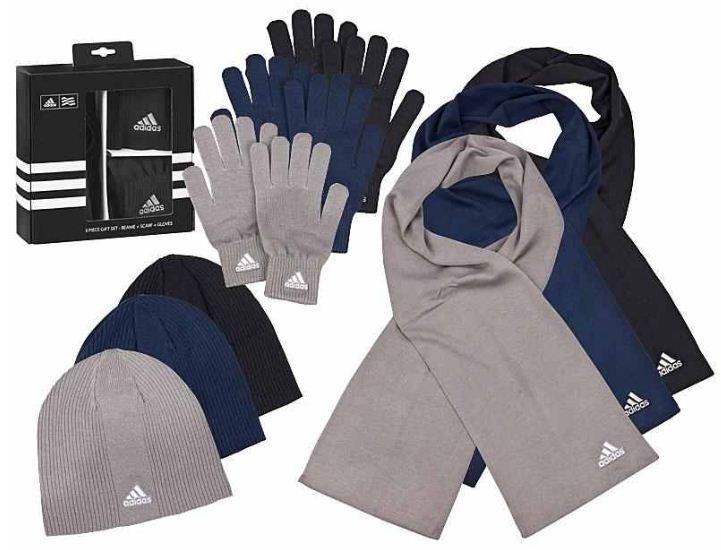 ADIDAS Strick Winter Set mit Beanie, Schal, Handschuhe für 27,90€