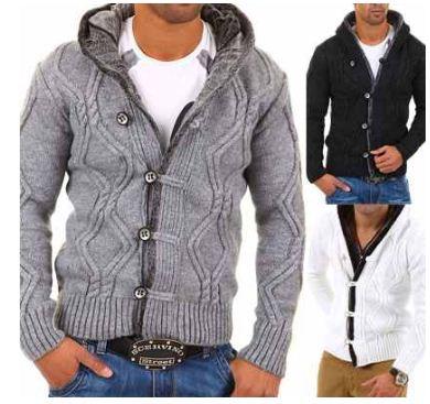 [ebay Wow] Herren: warme Carisma Strickjacke in 3 verschiedenen Farben (Größen S bis XXL), je inkl. Versand 36,90€