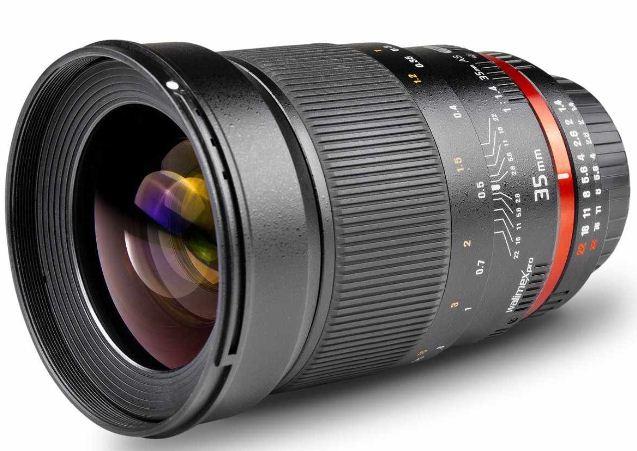 [Amazon.uk] Canon EF Objektiv: Walimex Pro 35 mm 1:1,4 Objektiv (77 mm Filtergewinde) inkl. Versand 324,90€