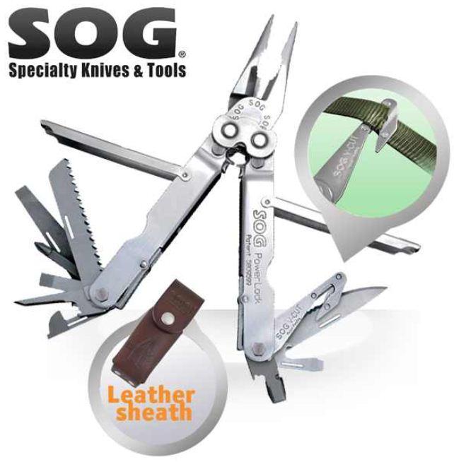 [iBOOD] Multi Tool: SOG S62 L PowerLock mit V Cutter inkl. Versand 55,90€ (Vergleich 110€)