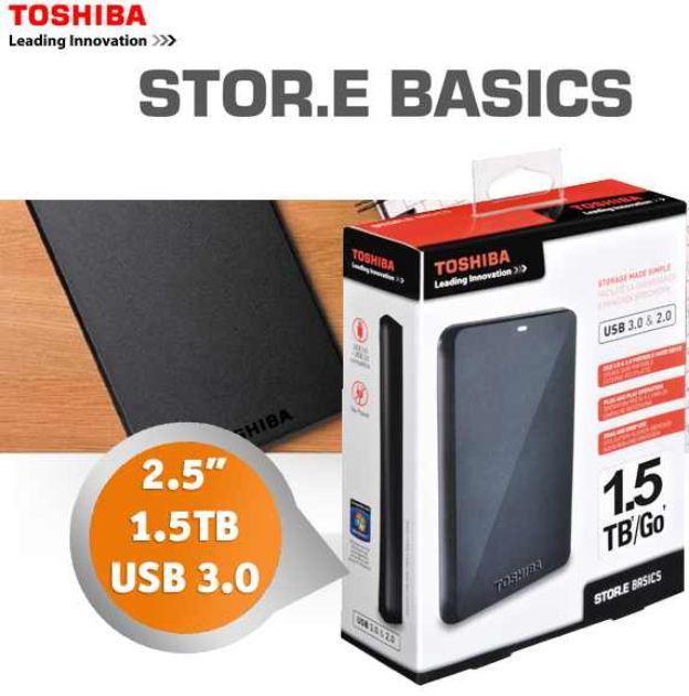 [iBOOD] 2.5 externe Festplatte: 1,5 TB TOSHIBA Store.e Basice für inkl. Versand 95,90€