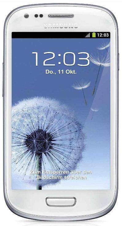 Samsung Galaxy S3 mini   Smartphone mit 8GB marble white für 209€