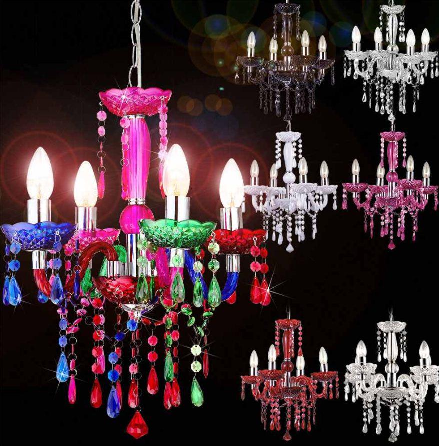 [ebay Wow] Acryl Kronleuchter: Lampe Maria Theresia in weiß oder 6 verschiedenen Farben inkl. Versand je 39,99€