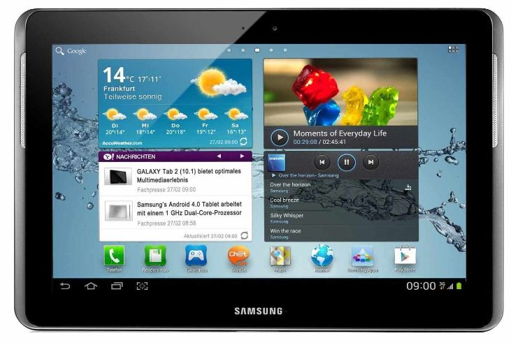 [Base] 10.1 Android Tablet: Samsung Galaxy 2 WIFI (25,7cm Display, 16 GB Speicher, 3,2 Megapixel Kamera) inkl. Versand 249€