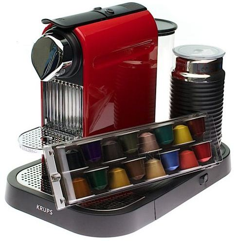 [GetGoods] Krups XN 7106 Nespresso CitiZ & Milk fire engine red, inkl. Versand 144,95€