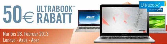 [Cyberport] Update: 50€ Rabatt auf ausgewählte Ultrabooks