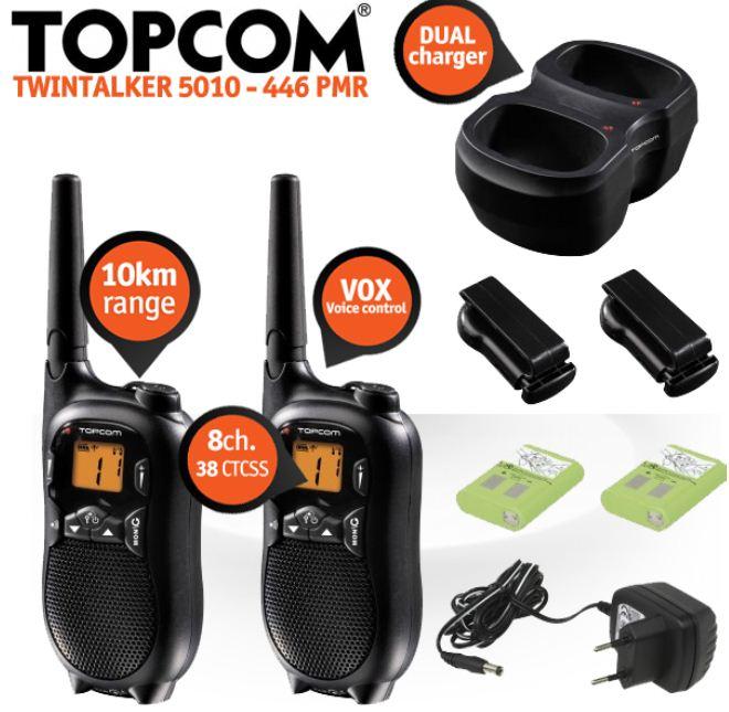 [iBOOD] Funkgeräte: Topcom Twintalker 5010 mit 10 km Reichweite, inkl. Versand 45,90€