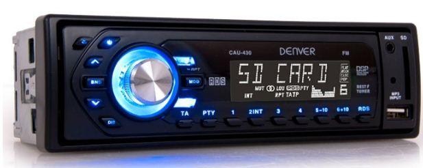 [ebay Wow] Digitales MP3 Autoradio: Denver mit SD USB Anschluss, AUX, Diebstahlschutz inkl. Versand 29,99€