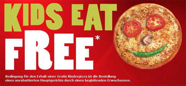 [Pizza Hut] Gratis Pizza für Kinder bei zahlendem Erwachsenen