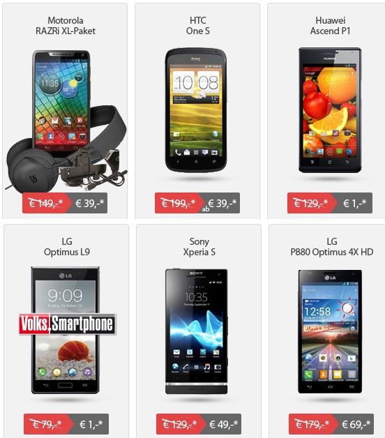 Motorola RAZRi (oder andere Handys) für einmalig 39€ und monatl. 9,99€ dank O2 Blue XS Vertrag!