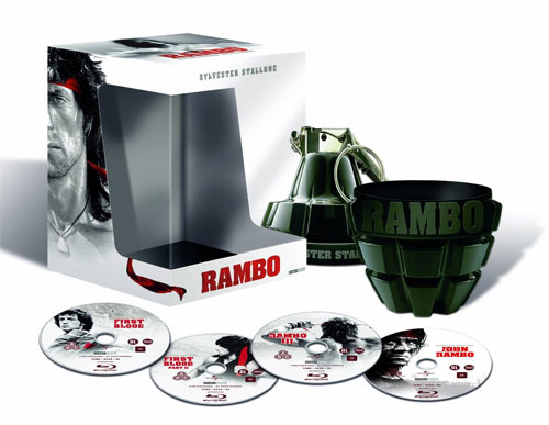 [Play.com] Rambo Collection (4 Blu rays) in Special Grenade Packaging für 25,99€ inkl. Versand