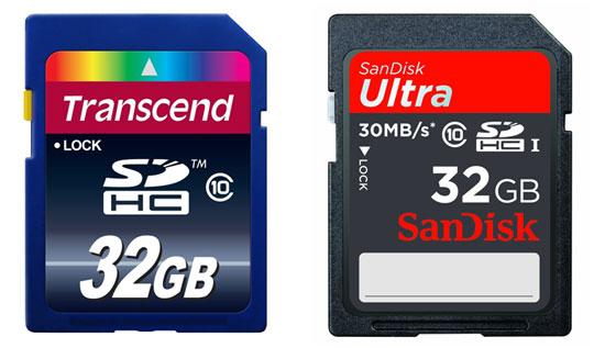 [Amazon] günstige SD Speicherkarten   SanDisk und Transcend 16GB und 32GB