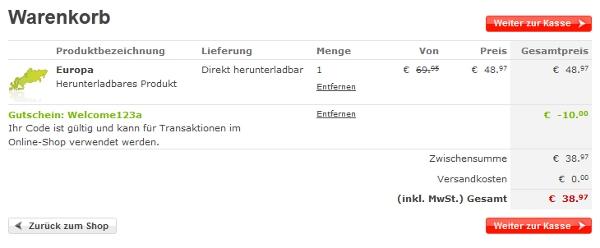 [TomTom] 10€ Gutschein z. B. für Karten für Navigationsgerät