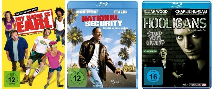 National Security für 3,95€ & My Name Is Earl komplette Serie für 39,99€ & Hooligan für 6,97€