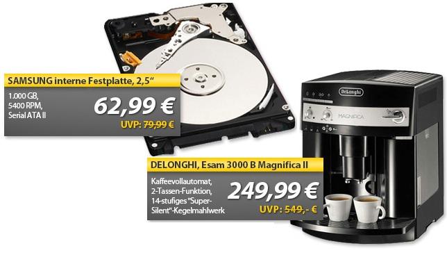 OHA Deals! (DeLonghi Magnifica ESAM 3000 B & Samsung M8 Preliminary 2,5″ 1TB HDD)