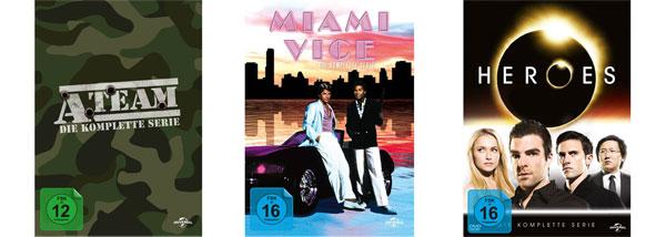 [Amazon] Reduzierte DVD Gesamtboxen   Heroes, A Team und Miami Vice für jeweils 29,97€ inkl. Versand