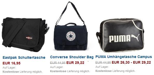Update! Taschen + Rucksack Sale bei Amazon mit bis zu 60% Rabatt
