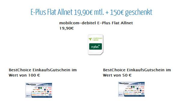 [eteleon] E Plus Allnet Flat + Internet Flat für monatlich 12€